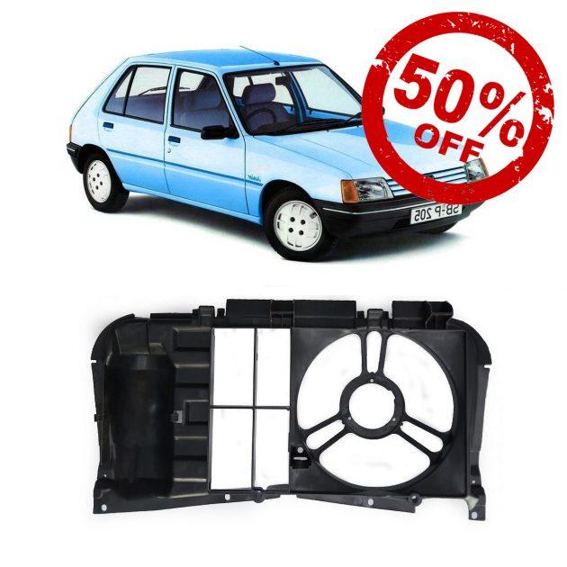 Peugeot 205 Frente Plastico Carcasa Soporte De Electro D Nq Np 666879 Mlu32031502454 082019 F